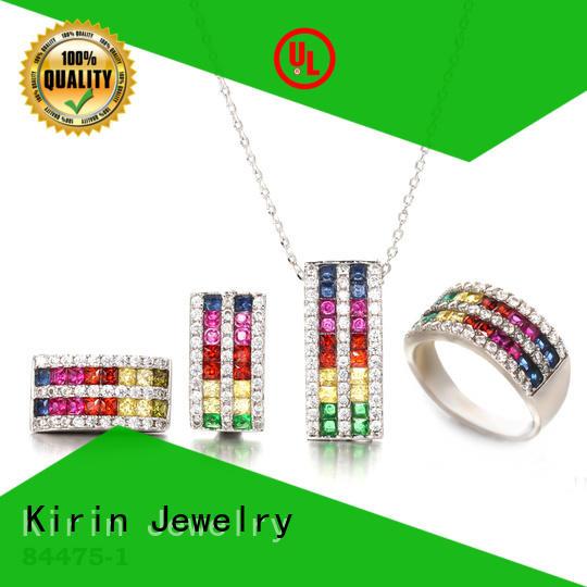 Kirin High-quality rainbow moonstone earrings factory price for partner