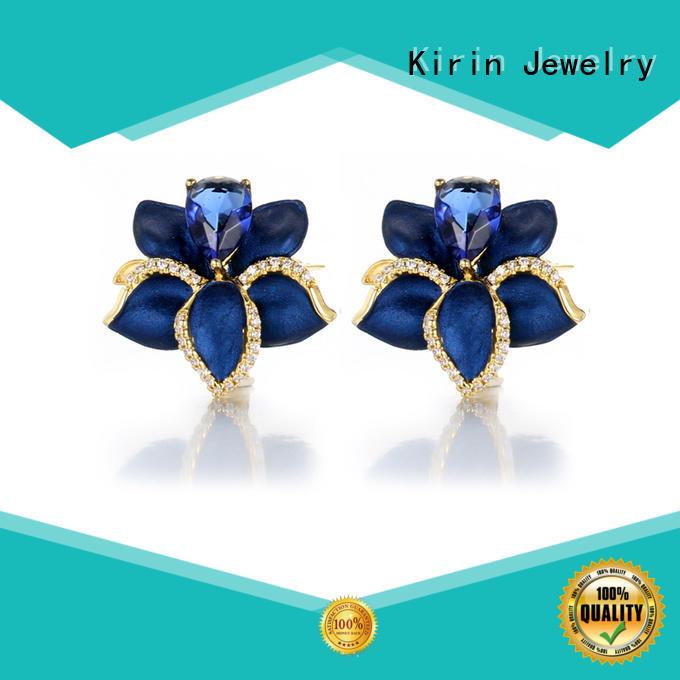 Kirin princess circle stud earrings bulk production for girl