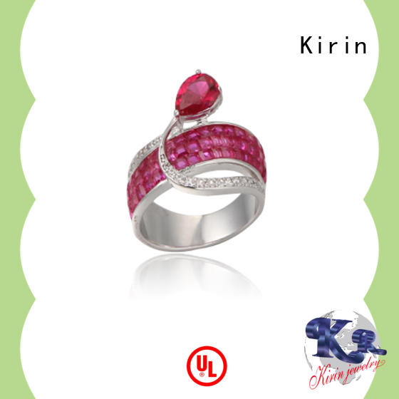 Kirin new-arrival cute simple silver rings from China for partner