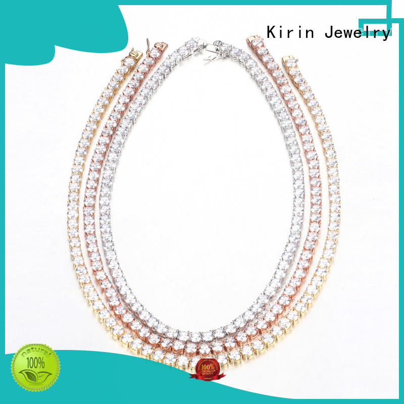 Kirin zirconia women's silver chain necklaces from China for woman