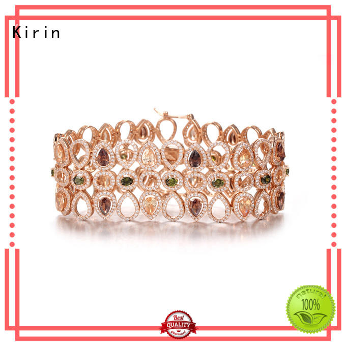 Kirin quality multi coloured stone jewellery with cheap price for woman