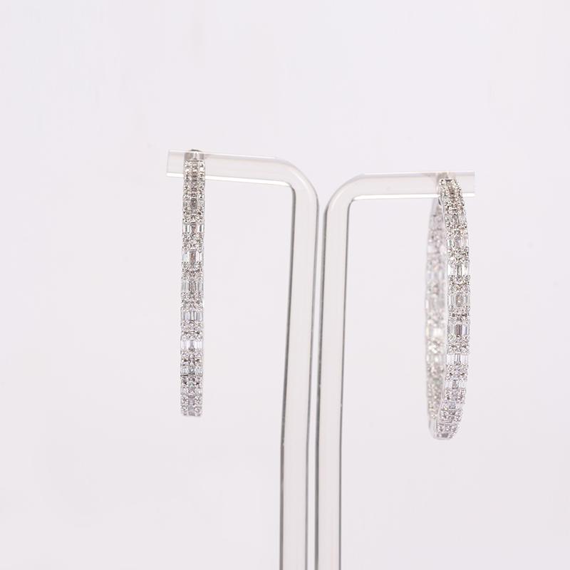 Kirin Jewelry -Manufacturer Of Sterling Silver Drop Earrings Round Big Hoop Earring Sterling-1