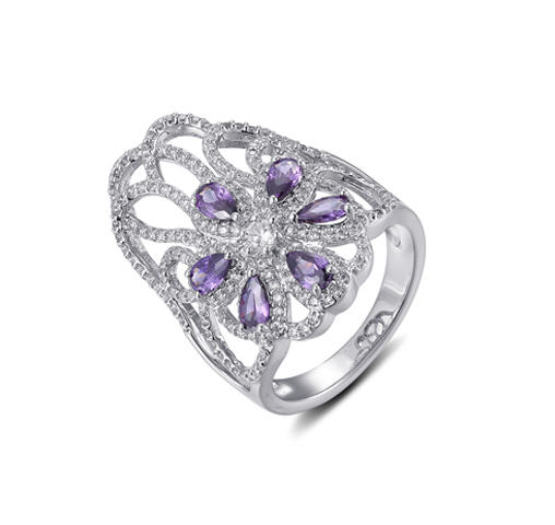 Kirin new-arrival sterling silver cubic zirconia rings at discount for mom-1