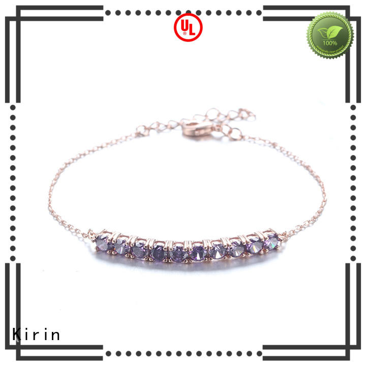 Kirin setting sterling silver cubic zirconia jewelry customization for mother