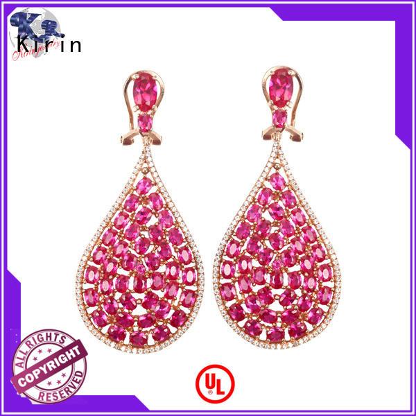 Kirin stunning tiny silver stud earrings bulk production for female