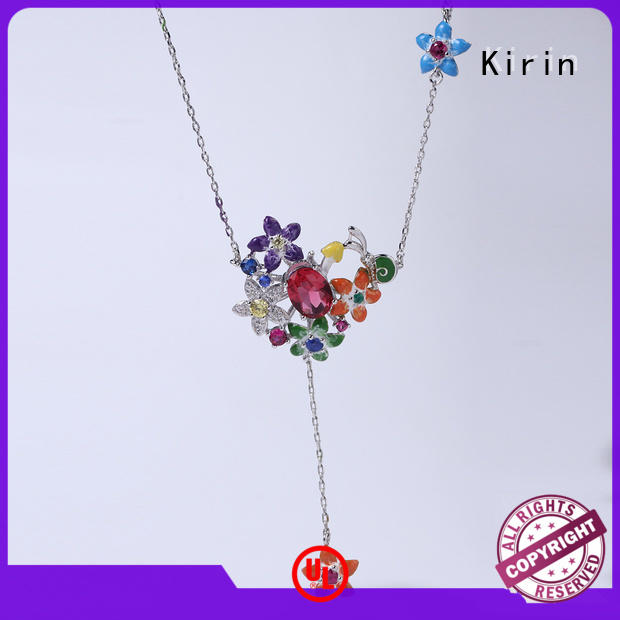 Kirin blooms sterling jewelry sets with cheap price for girl