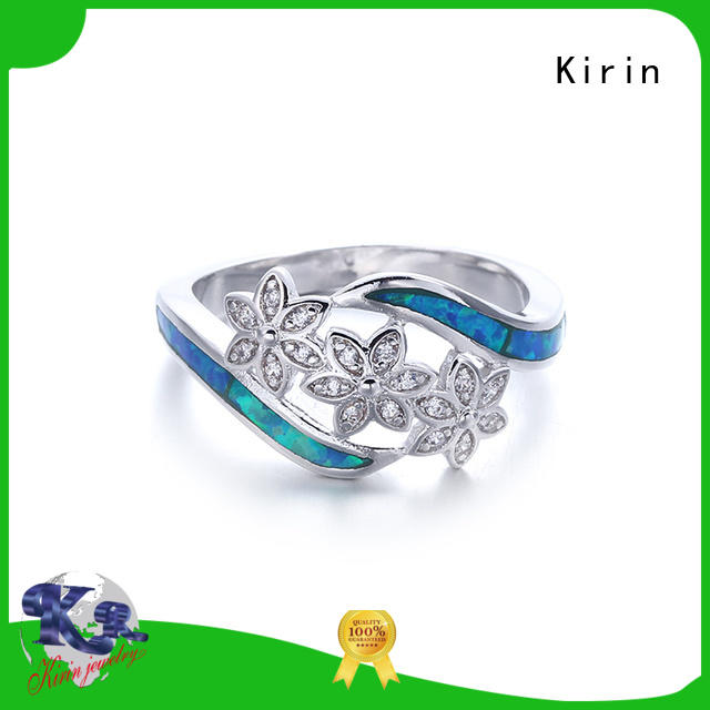Kirin cocktail beautiful silver rings factory price for girlfriend