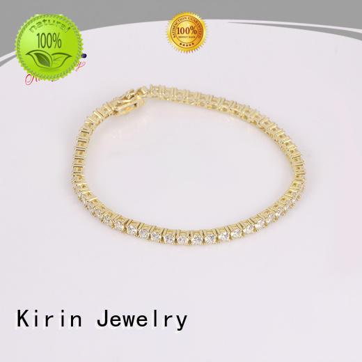 teardrop zircon plating inspirational Kirin Jewelry Brand 925 sterling silver bracelets supplier