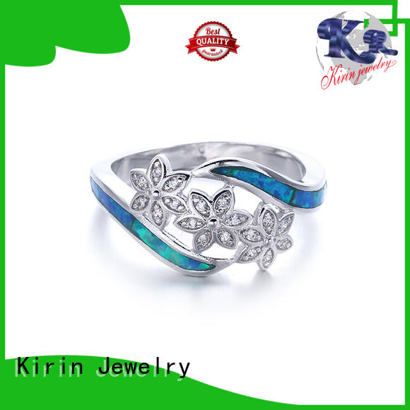 Kirin Jewelry exquisite silver jewelry rings gemstone for mother