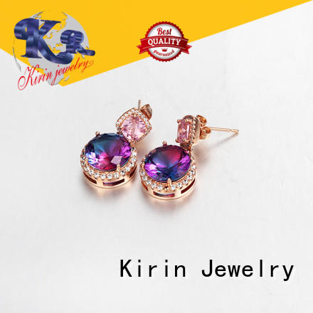 Kirin prong 925 sterling silver earrings for business for girl