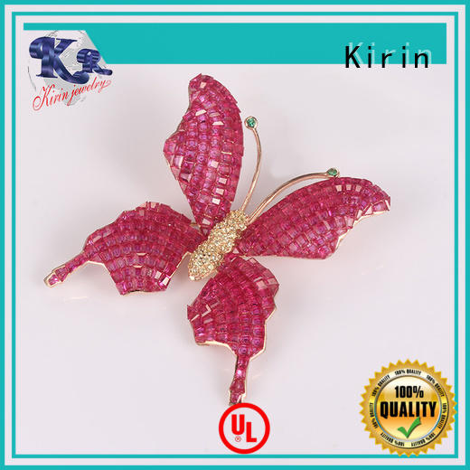 Kirin exquisite sterling silver safety pin brooch producer for mate
