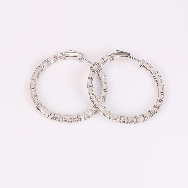 Kirin Jewelry -Manufacturer Of Sterling Silver Drop Earrings Round Big Hoop Earring Sterling