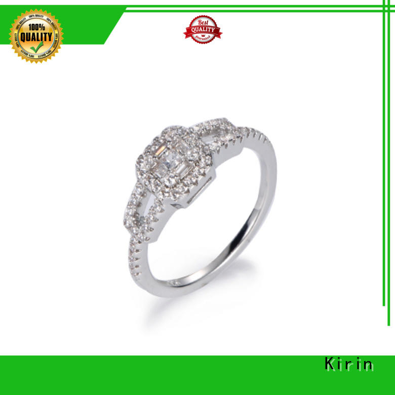hot-sale wide silver ring stackable from China for family