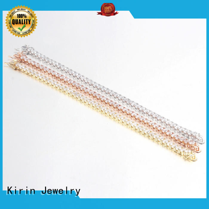 Kirin gorgeous silver chain bracelet womens with Quiet Stable Motor for lover