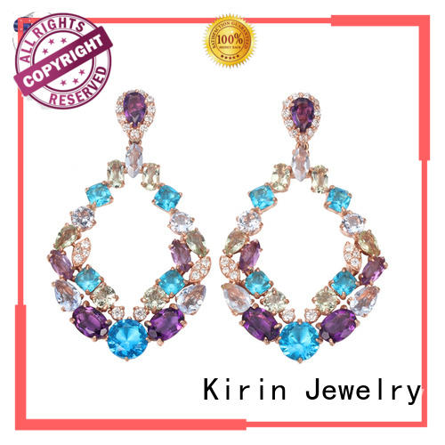 Kirin Jewelry magnificent stud earrings for women factory price for mate
