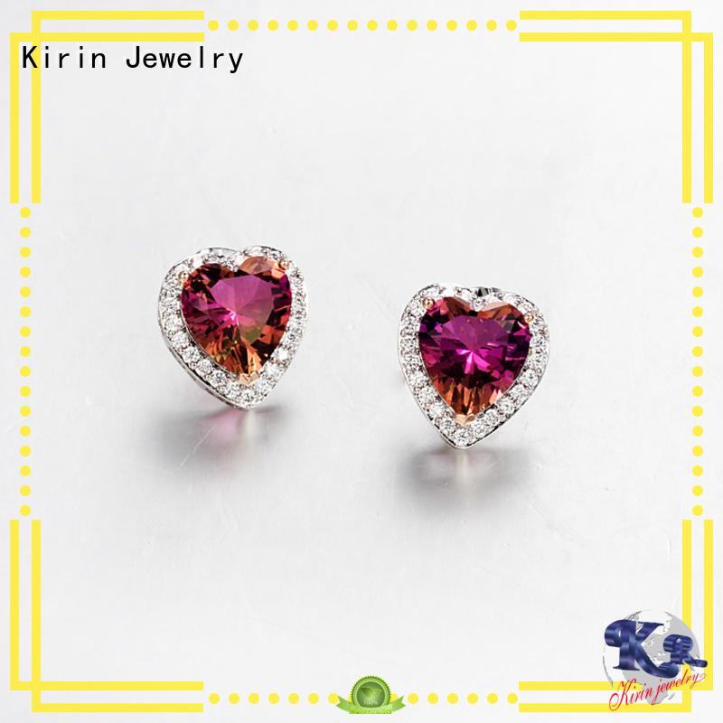 Kirin Jewelry Brand blue luxury princess 925 sterling silver earrings manufacture