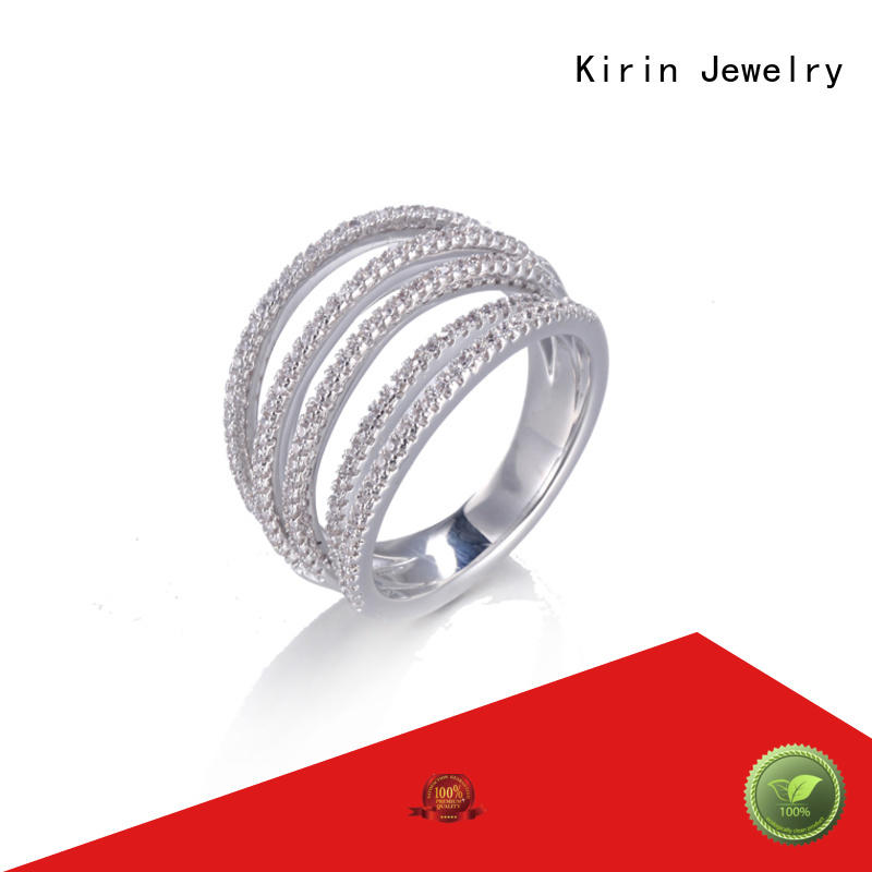 Kirin Wholesale pave setting jewelry producer for girlfriend
