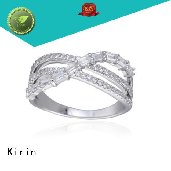 Kirin platinum sterling silver cubic zirconia rings bulk production for girlfriend
