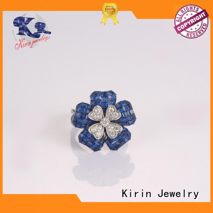 Kirin Jewelry hot-sale plain silver rings created for lover