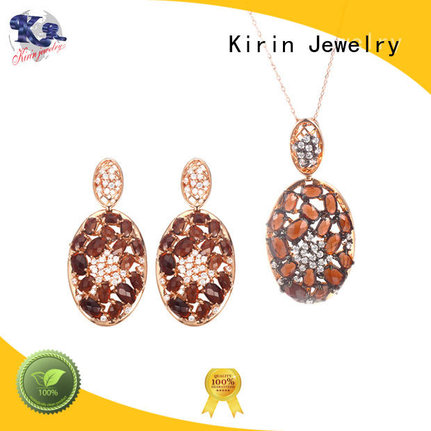 Kirin Jewelry charming silver pendant and earring set from manufacturer for mom