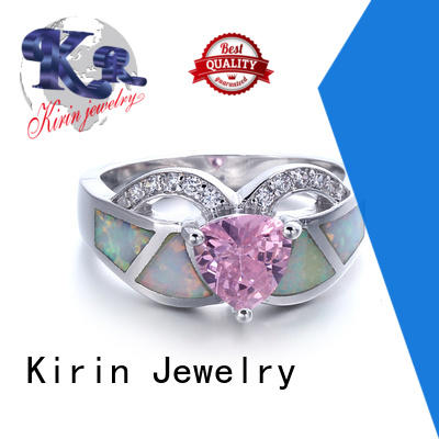 Kirin rings rose gold and opal engagement ring bulk production for female