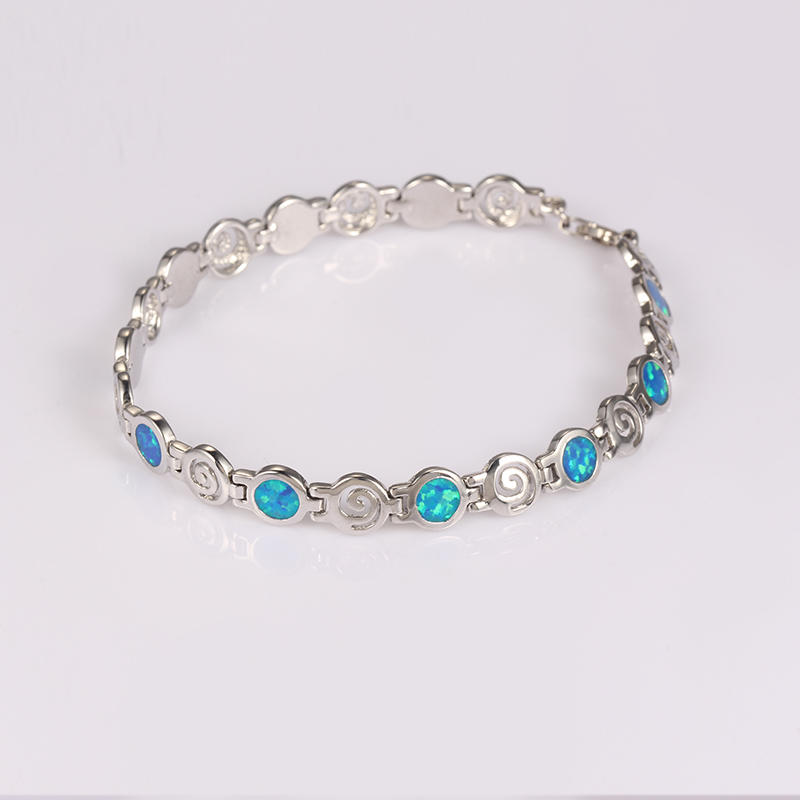 Kirin Jewelry -Manufacturer Of Jewelry Chain Blue Fire Opal Bracelet For Lady Party