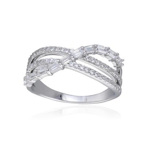 Kirin Jewelry -Manufacturer Of Rhodium Plated Jewelry Rhodium Plated Baguette Cubic Zirconia