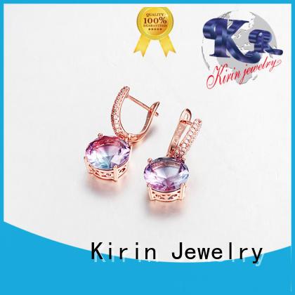earrings shape pendant emerald silver jewelry charms Kirin Jewelry Brand