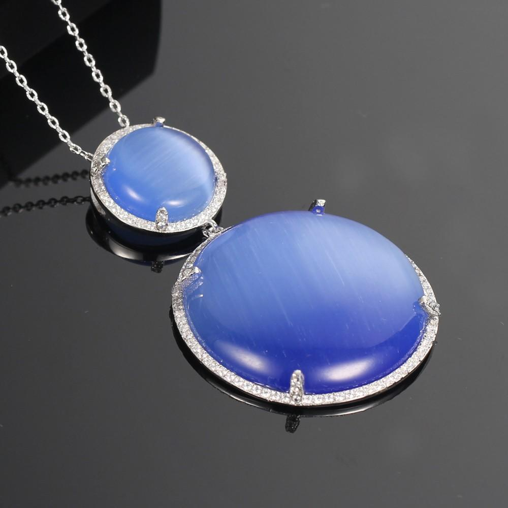 Kirin Jewelry -High-quality Womens Necklace And Earring Set | 925 Silver Jewelry Set Prong