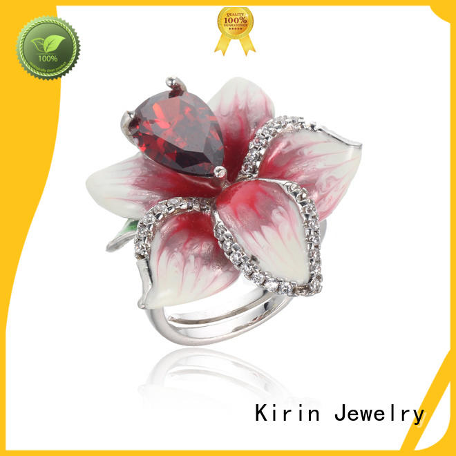 sterling silver couple rings 104243 for mother Kirin Jewelry