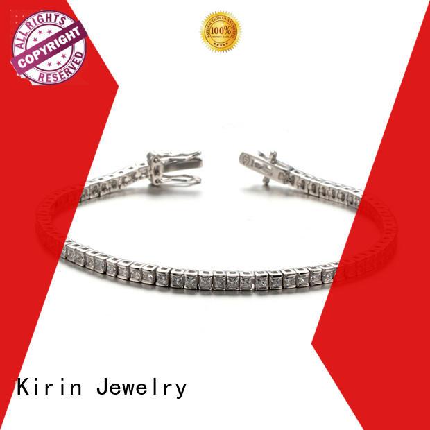 Kirin Jewelry Brand gift cubic round custom simple silver bracelet