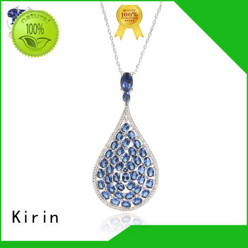 Kirin made white gold necklace earring sets Supply for female