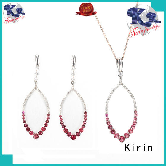 Kirin purple silver bridal jewelry sets with Quiet Stable Motor for woman