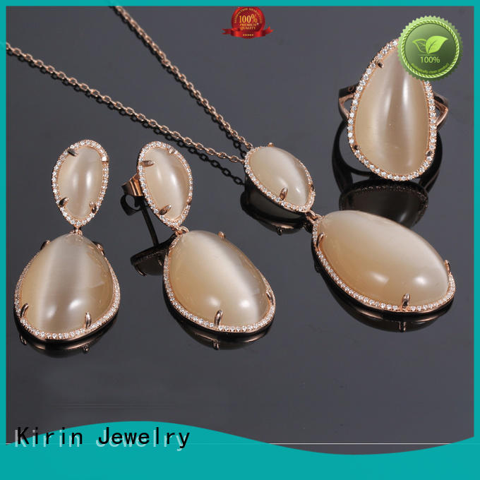 your chain 925 sterling silver wedding sets Kirin Jewelry manufacture