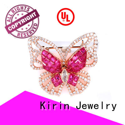 Kirin Jewelry ruby silver safety pin China factory for partner