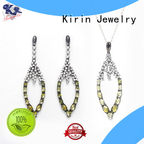 Kirin luxury 925 silver jewellery set with cheap price for girl