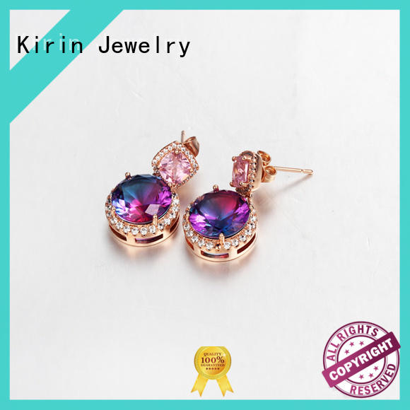 Kirin gift cubic zirconia earrings free quote for girl
