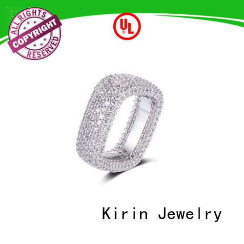 Kirin Jewelry luxury ladies plain silver ring at discount for girlfriend
