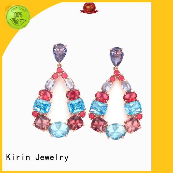 cross earrings studs drop for girl Kirin Jewelry