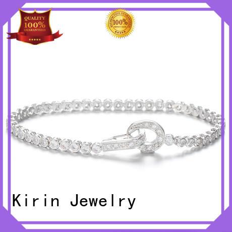 Kirin Jewelry Brand style womens fine zirconia pave setting jewelry
