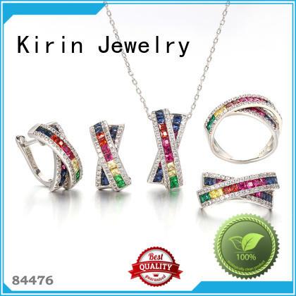 Kirin stud pink jewellery set factory price for girlfriend