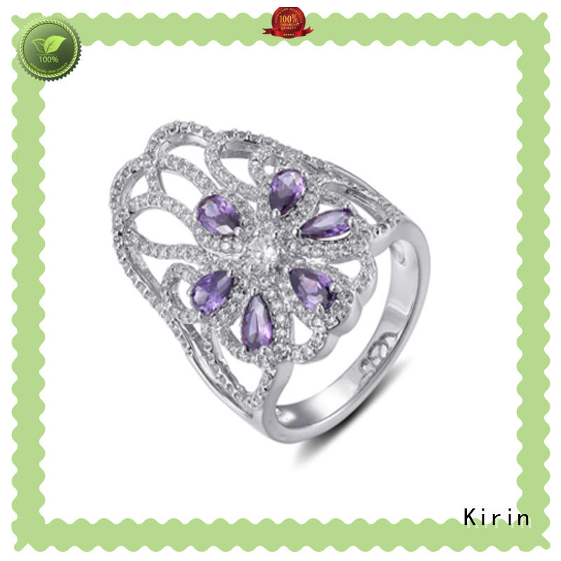 Kirin new-arrival sterling silver cubic zirconia rings at discount for mom