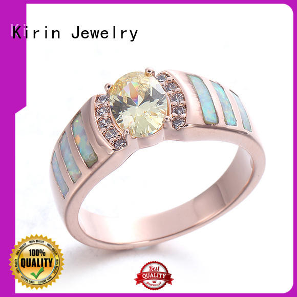 Kirin oval opal stone ring China Factory for girlfriend