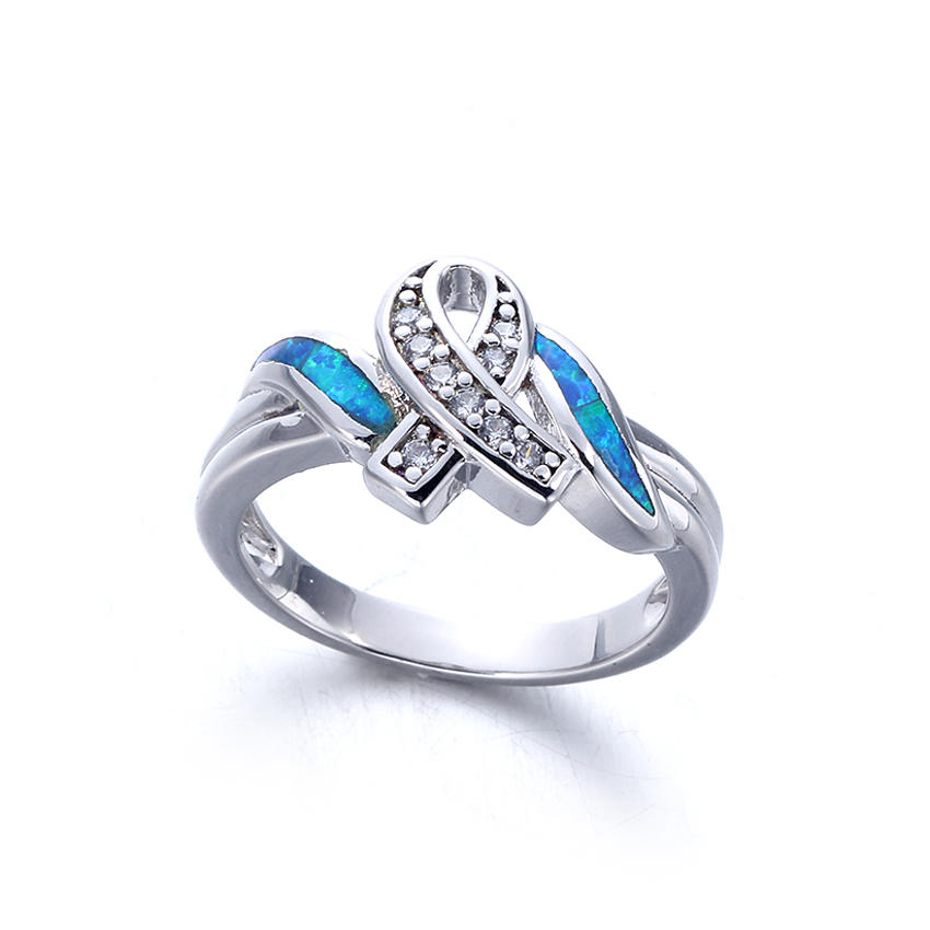 Kirin luxurious silver opal ring free quote for girlfriend-1