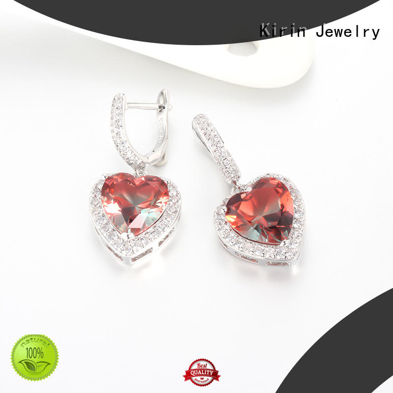 1pair Women Fashion 925 Sterling Silver Cubic Zirconia CZ Drop Earrings Jewelry Gifts 39037