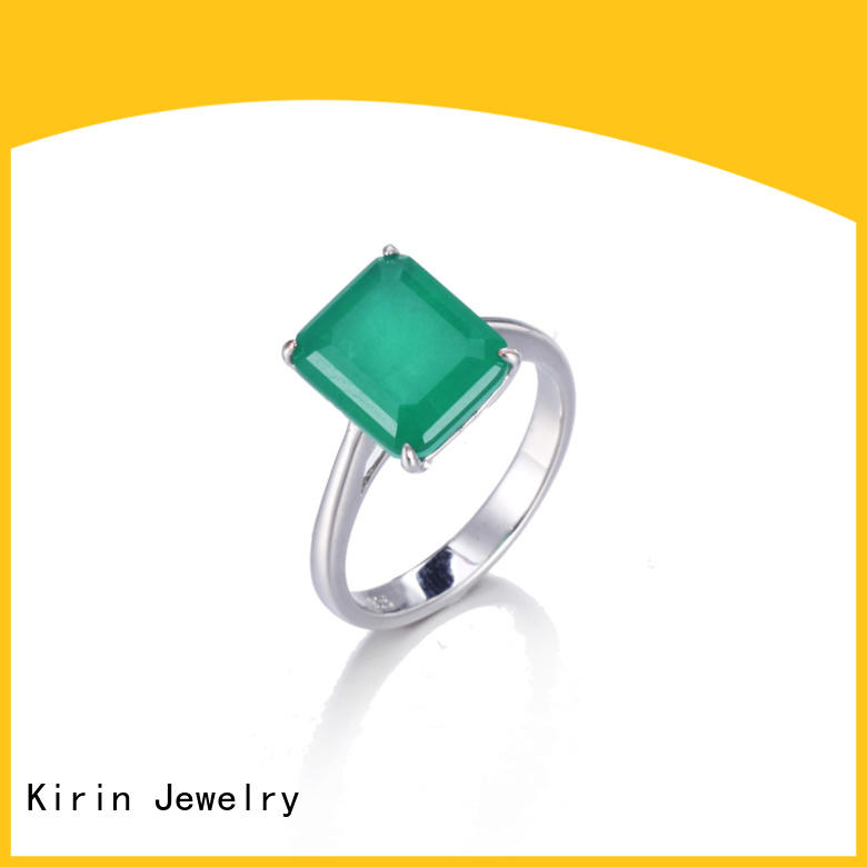 plain sterling silver rings for women crystal Kirin Jewelry