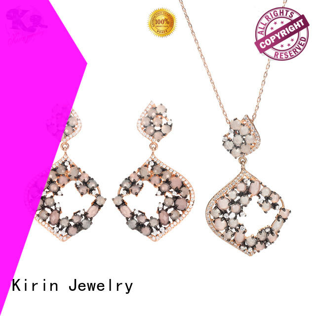 Kirin Jewelry champagne silver chain and bracelet set bulk production for mother