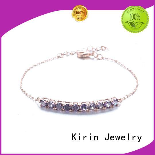 Wholesale marquis simple silver bracelet clear Kirin Jewelry Brand