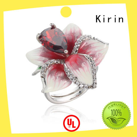 Kirin charming white opal ring bulk production for family