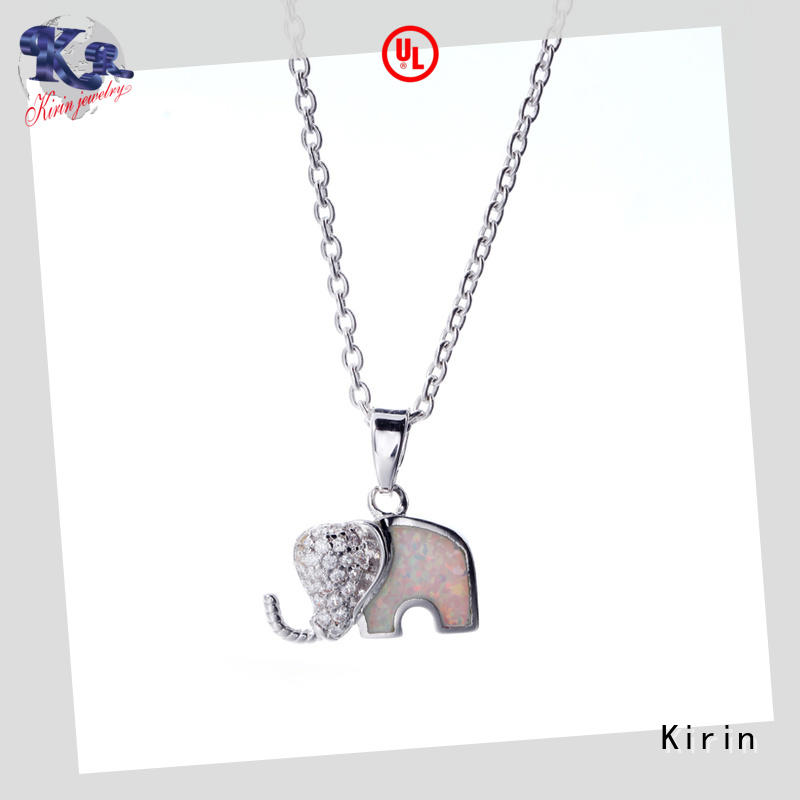 Kirin elegant simple silver necklace directly sale for girl